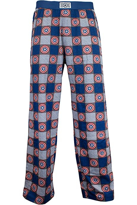 NEW Men/'s Marvel Captain America Sleep Pants Soft Lounge Pajama Pants