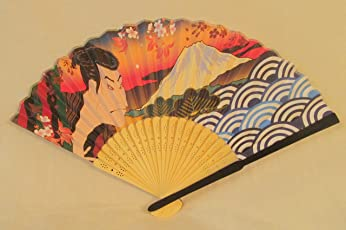 Folding Hand Fan Ukiyoe