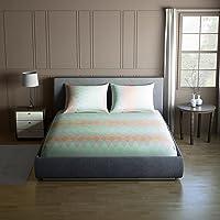 Core Designed by Spaces Splendor Cotton 104 TC Double Bedsheet with 2 Pillow Covers - Blue