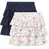 Spotted Zebra 2-Pack Knit Ruffle Scooter Skirts Niñas, Pack de 2