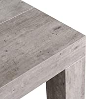 icreo Tavolo CONSOLLE ALLUNGABILE Modello ATENA Cemento CM 46/306X90 H75 Arriva MONTATA in nobilitato melaminico di...