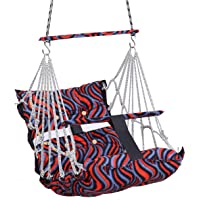 BOFFLE® Cotton Swing Chair for Kids Baby's Children Folding and Washable1-6 Years with Safety Belt/Home,Garden Jhula for…
