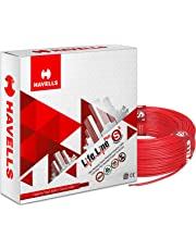 Havells Life Line Plus S3 1.5 sq mm PVC HRFR Cable (Red)