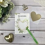 Rubbelkarten 3er Pack zum selber beschriften und personalisieren grün gold Bl?tter Eukalyptus 3er Pack