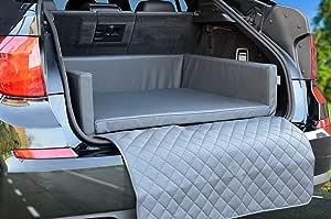 Padsforall Autoschondecke Kofferraum Schutzdecke Auto Hundebett In Grau Kunstleder Mypado Haustier