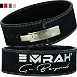 EMRAH PRO Buff Hide Leather Powerlifting Lever Fibbia Gym Workout Fitness Cintura per Sollevamento Pesi per Uomini e Donne |