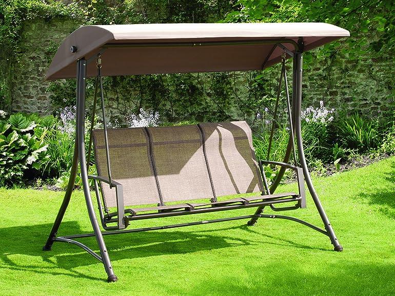 Suntime 3 Seater Havana Swing Hammock With Polyester Canopy