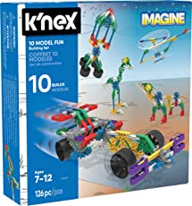 K'Nex Imagine 10 Model Building Fun Set for Ages 7+, Engineering Education Toy, 126 Pieces