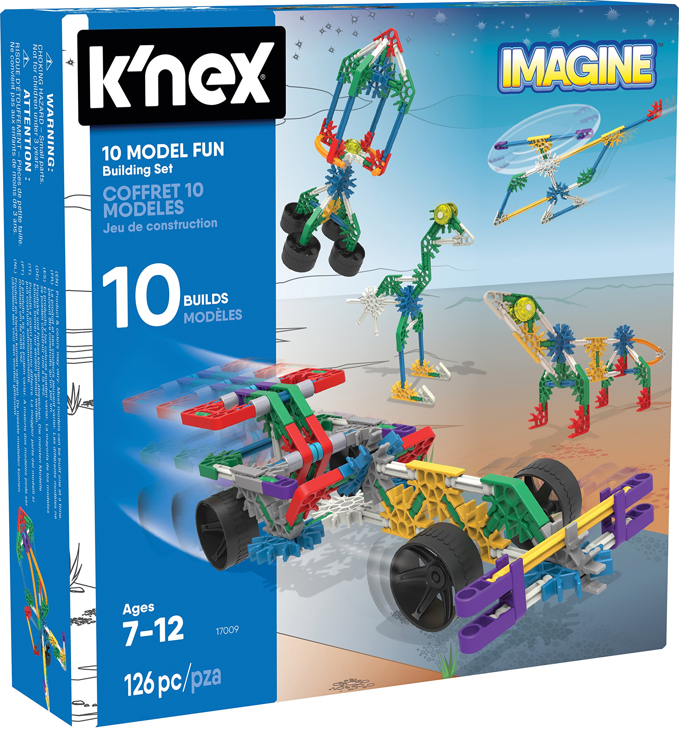 K Nex 10 Model Building Set Childrens Educational Toys