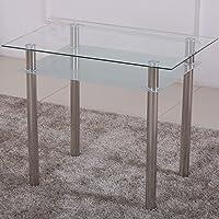 Esstisch Glas mit 6mm Sicherheitsglas & Facettenschliff - Glastisch perfekt geeignet als Esszimmertisch/Küchentisch…
