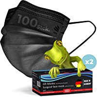 kela, OP Maske schwarz, 100% Made in Germany, medizinische Mund Nasenschutzmaske, chirurgische Einweg-Maske, CE…