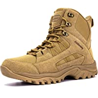 Ansbowey® Hiking Boots Mens Womens Trekking Shoes Outdoor Army Combat Tactical Patrol Boots with Side YKK Zip for Unisex…