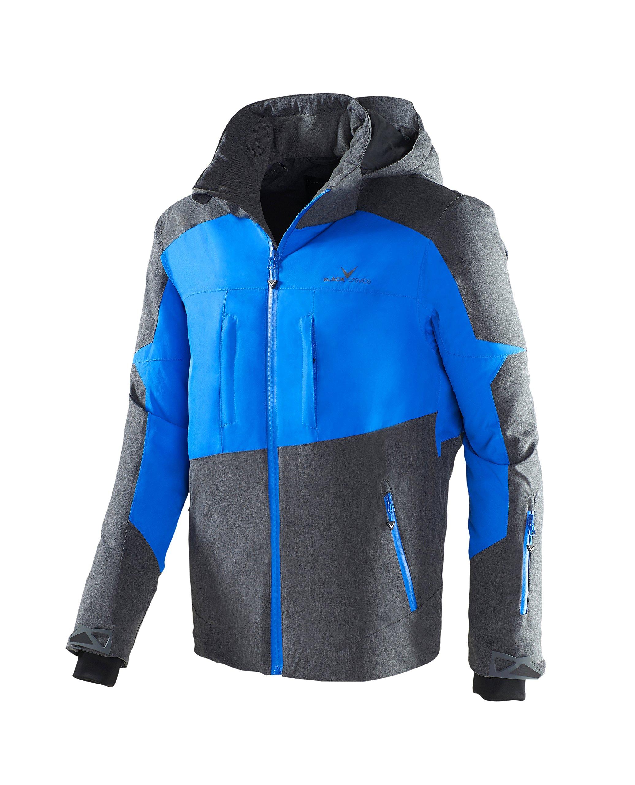 Black Crevice Herren Ski- und Snowboardjacke, BCR251004, mehrfarbig (grau/blau),