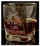 KolbergGlas WhiskeyGlas mit realem Geschoß und Gravur The Last Gentleman Geschenkidee
