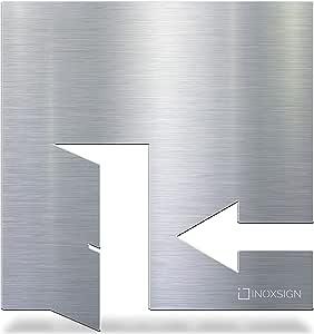 selbstklebend /& pflegeleicht INOXSIGN Edelstahl WC-Schild W.10.E Design Toiletten-Schild