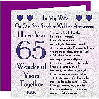 My Wife 65th Wedding Anniversary Card