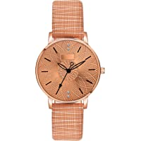 DAINTY Girl's and Women's Quartz Watch with Analogue Display and Leather Strap