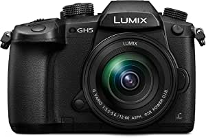 Panasonic Lumix DC-GH5MEG-K Systemkamera (20 MP, Dual I.S., 4K/6K, wetterfestes Magnesiumgehäuse, 12-60mm Objektiv, schwarz)