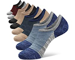Closemate 8 Pairs Mens No Show Socks Low Cut Invisible Cotton Casual Trainer Socks with Non-Slip Grip