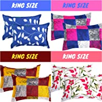 BSB HOME Cotton 120 TC Pillow Cover (King_Multicolour)