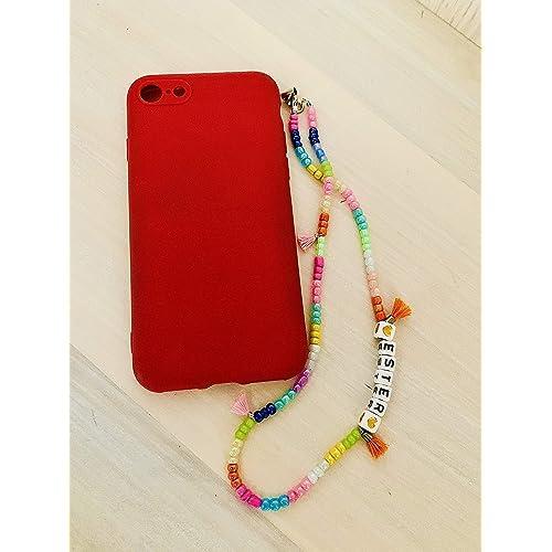 Phone strap charm candy laccetto cellulare con perline personalizzato con nome
