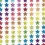Baker Ross Mini pegatinas Estrellas holográficas (Pack de 400) para manualidades navideñas infantiles