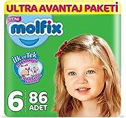 Molfix 3D Bebek Bezi Extra Large 6 Beden, Ultra Avantaj Paketi 86 Adet