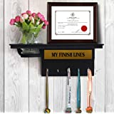 TIED RIBBONS Medal and Trophy Display Hanger Shelf with Artifical Flower and Vase for Wall Home Decoration
