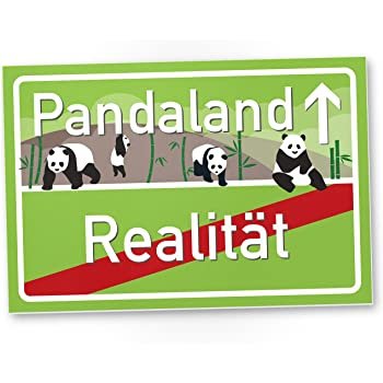 pandaland panda kunststoff schild kleines pers nliches. Black Bedroom Furniture Sets. Home Design Ideas