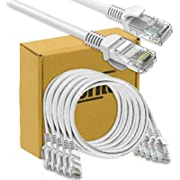 Storite 5 Pack Cat 5 Ethernet Cable RJ45 LAN Cable CAT 5 Network Internet Patch Cable for Laptop Router PC - White,1.5M