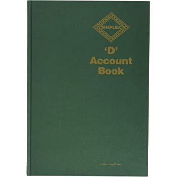 Simplex D Accounts Book - Green
