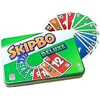 Mattel Games L3671 Skip-Bo Deluxe in Metallzinn Kartenspiel, geeignet für 2 - 6 Spieler, Spielzeit ca. 30 Minuten, ab 7…