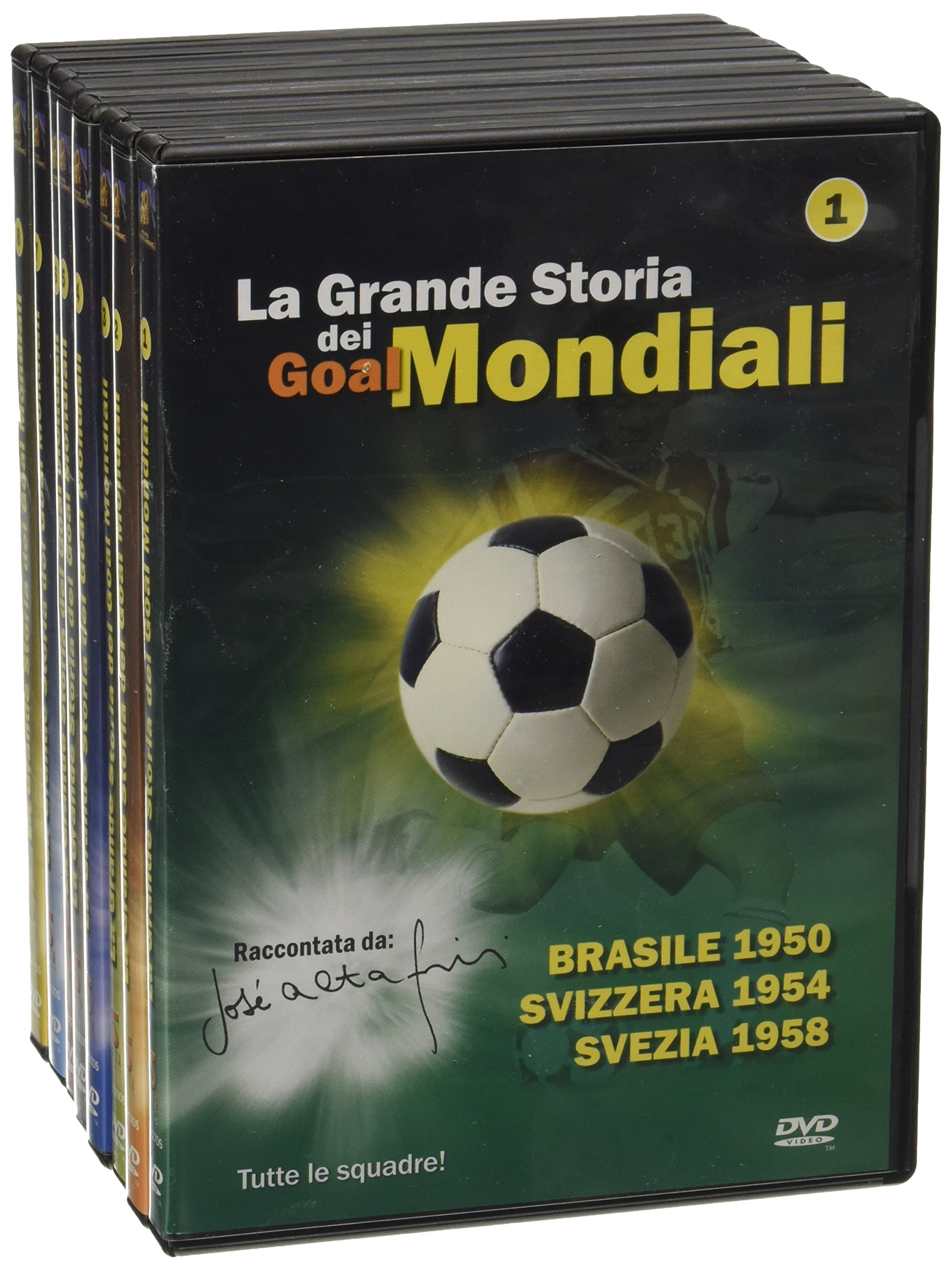 Super Offert 8 DVD Mondiali Di Calcio � 50 Anni Di Storia Dei Mondiali Pel�, Ronaldo, Roberto Baggi