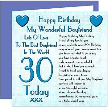 Boyfriend 30th Happy Birthday Card