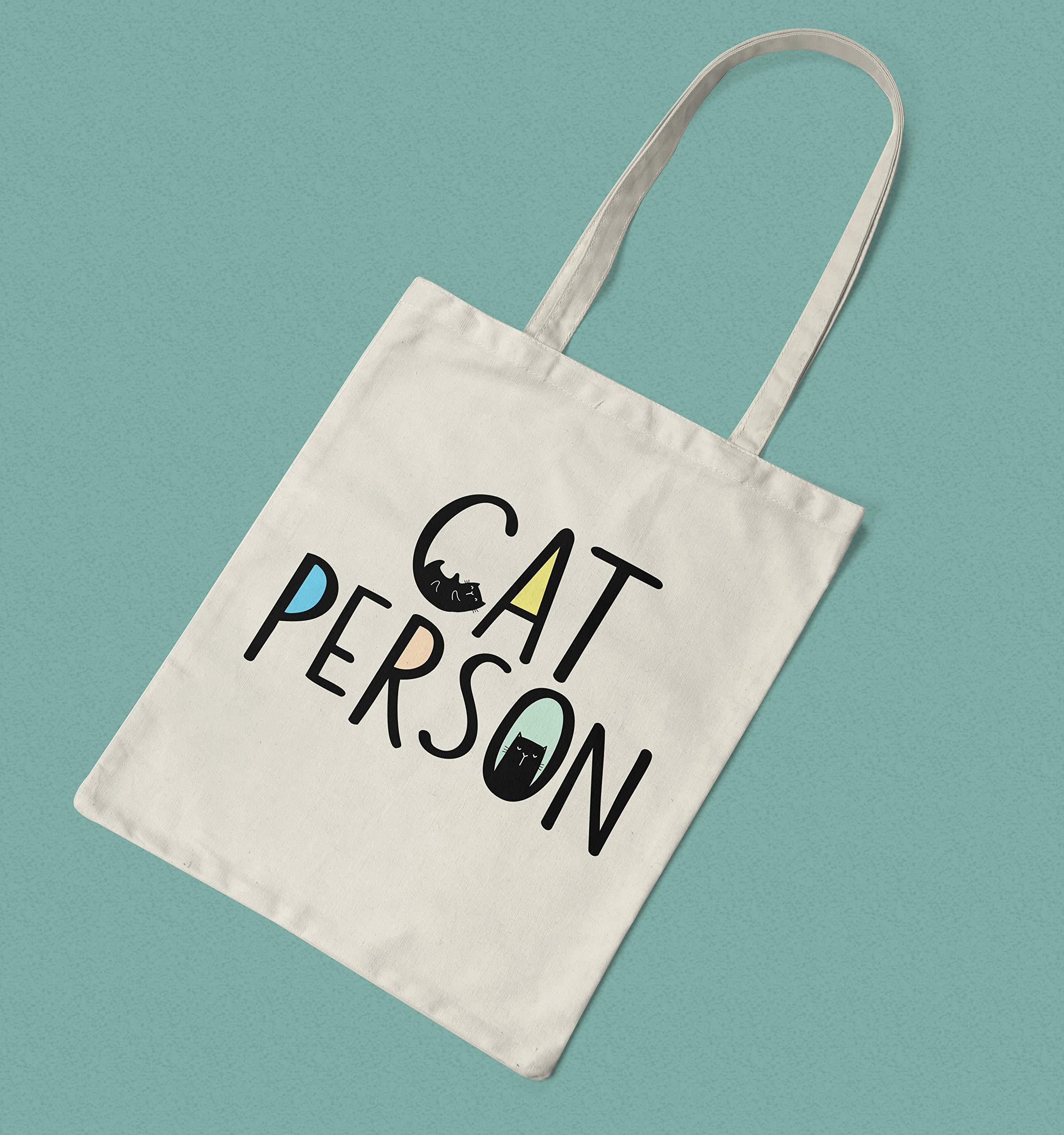 Cat Lover Gift Idea Cat Person Printed Tote Bag - handmade-bags
