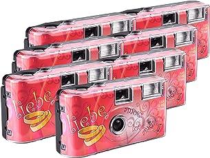 TopShot Love Hearts red Einwegkamera / Hochzeitskamera (27 Fotos, Blitz, 6+1 Pack)