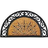 ID matt 4575 Coral halfmaanvormig 85031 natuurlijk tapijt deurmat kokoskernmatra/rubber beige 75 x 45 x 1,8 cm