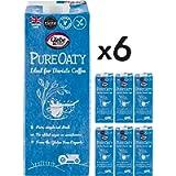 Glebe Farm Gluten Free Barista Oat Milk Made in The UK, Vegan, Unsweetened, Dairy-Free - 6X1L