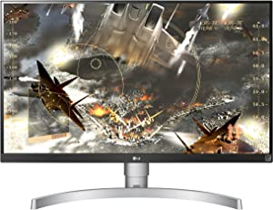 LG 27UK650 27-Inch 4K UHD IPS Monitor with HDR10 (White)