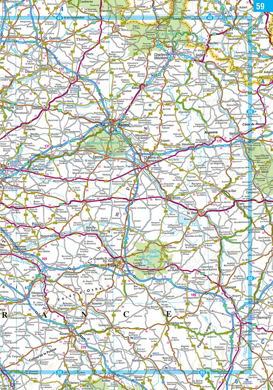 2020 Philip's Big Road Atlas Europe: (A3 Spiral binding) (Philip's Road Atlases) 7