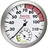 TFA Dostmann Thermomètre hygromètre analogique pour sauna - Matériaux résistants à la chaleur - Température et humidité de l'