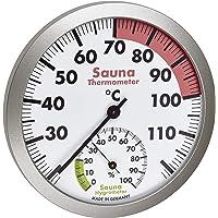 TFA Dostmann Thermomètre hygromètre analogique pour sauna - Matériaux résistants à la chaleur - Température et humidité…