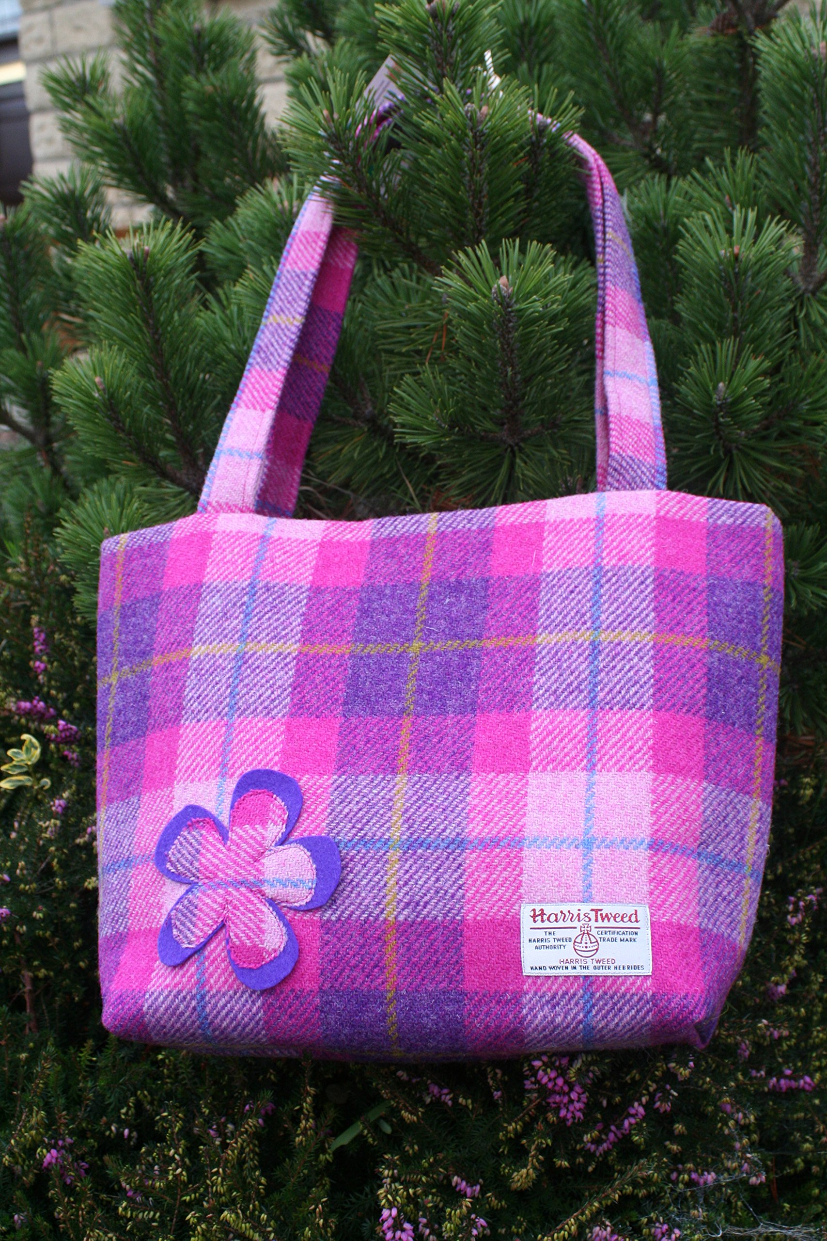 Harris tweed A4 tote - handmade-bags