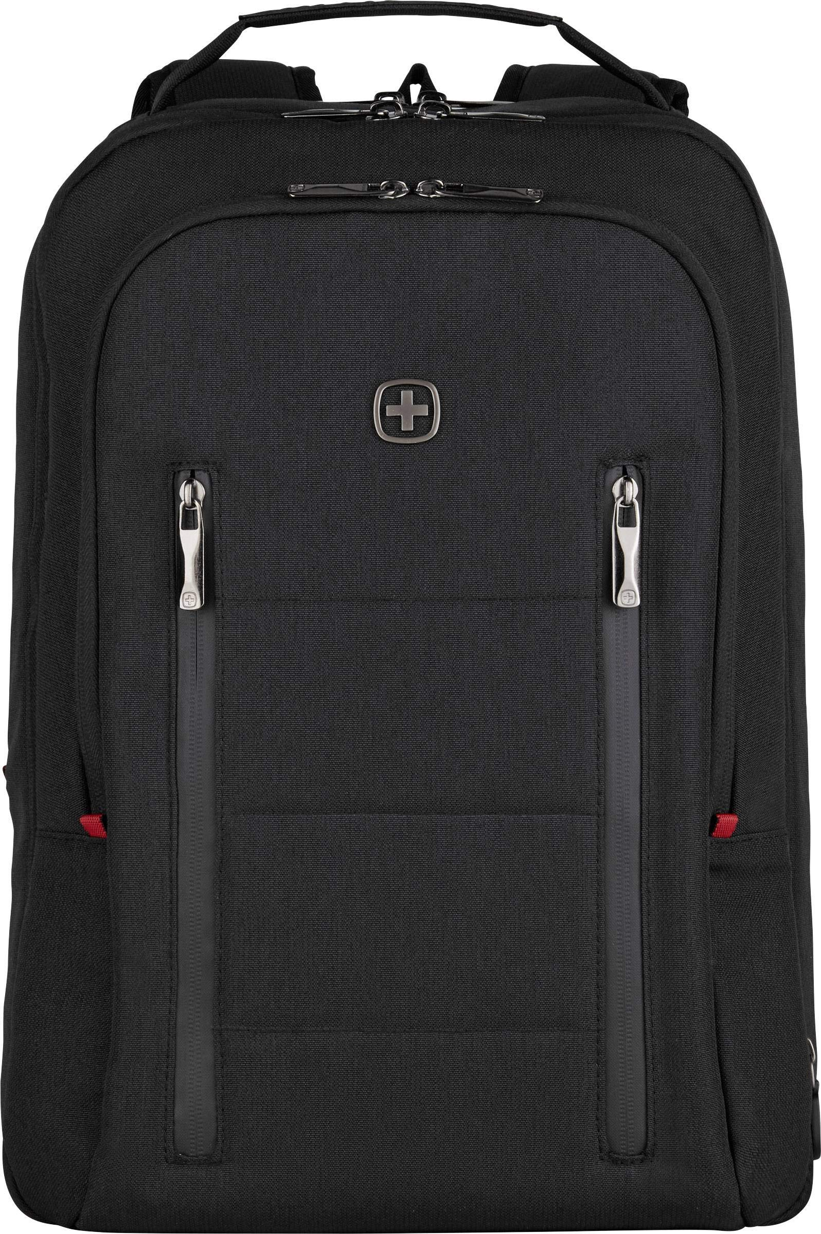 Wenger 606490 City Traveler 16″ Travel Laptop Backpack, Padded Laptop Compartment with Expandable Overnight Packing Compartment in Black {24 litres}
