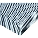 Amazon Basics Fitted Sheet, Bauernkaro, 90 x 190 x 30 cm