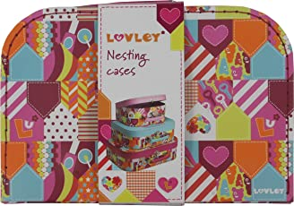 Hamleys Luvley Suitcase Nesting Cases, Multi Color (Set of 3)