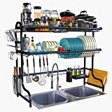 Eigen Over Sink Dish Drying Rack - Unique 2-Tier Utensil Rack for Kitchen Ultimate Kitchen Organiser StainlessSteel 304 Barta
