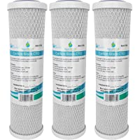 3x AquaHouse AH-CTO5 Cartouches de filtre à eau en bloc de carbone de 10 po pour eau potable, systèmes d'osmose inverse…