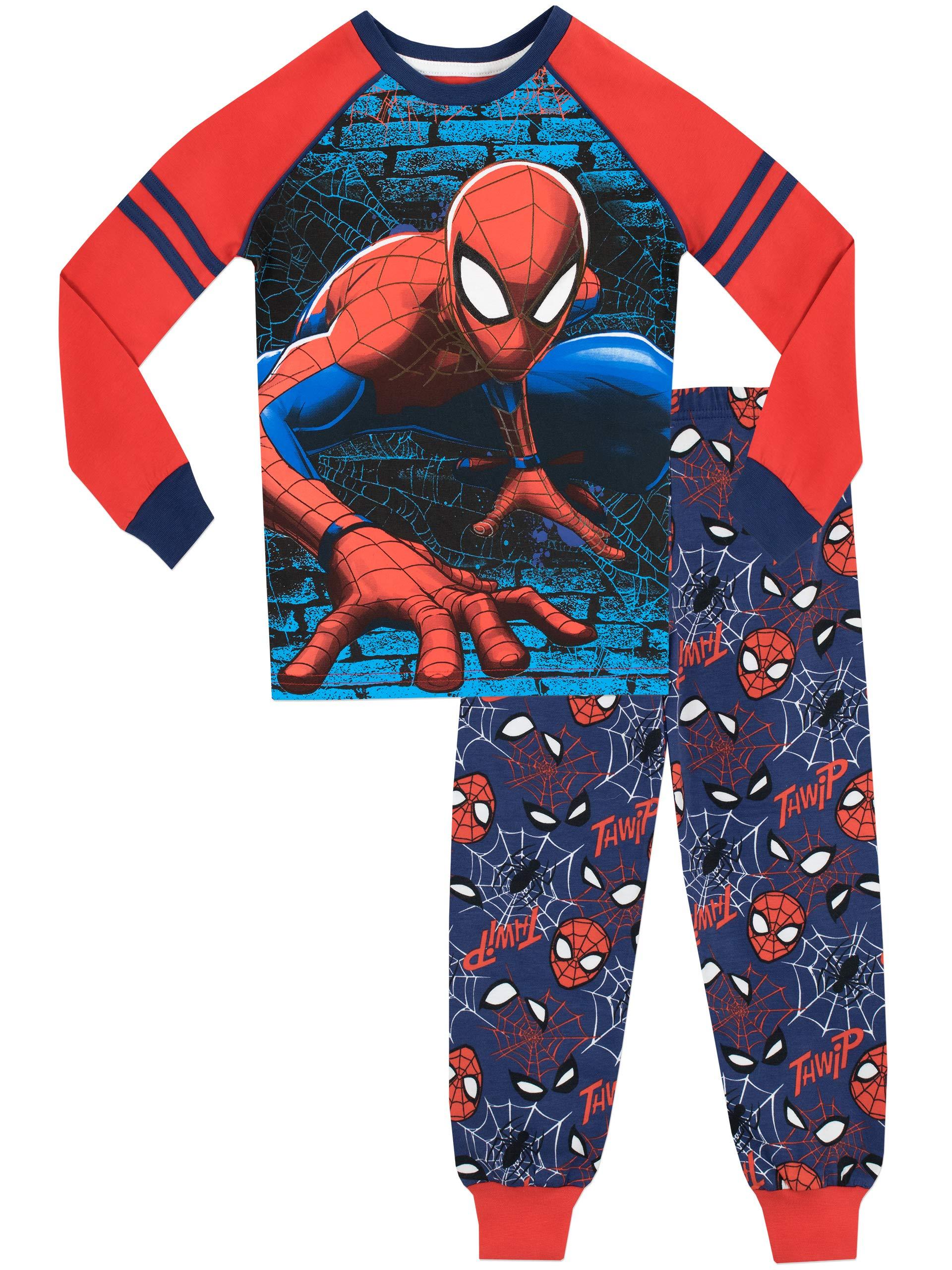 51d1843d95 Spiderman Boys Spiderman Slim Fit Pyjamas · Boys Marvel Avengers Iron Man  Captain America Thor Hulk Pyjamas