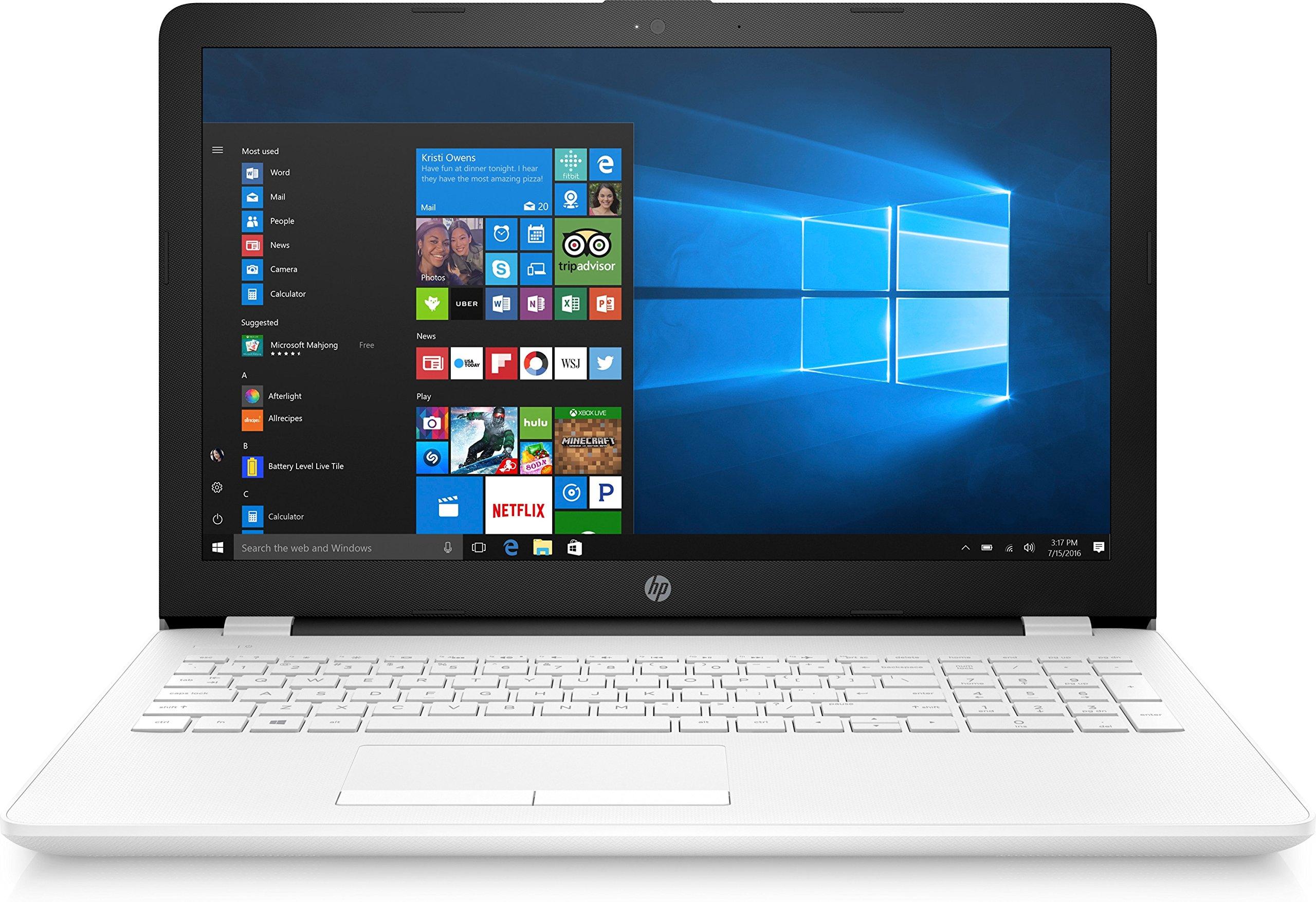 HP Notebook 15-bs029ns – Ordenador portátil 15.6″ (Intel Celeron N3060, 4GB RAM, 512GB HDD, Windows 10), Color Blanco – Teclado QWERTY Español